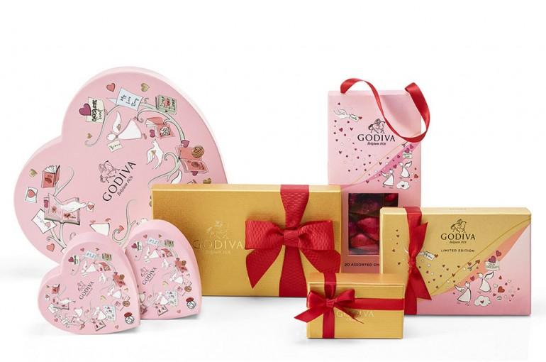 GODIVA 2020 Valentines Day Collection Gift Box