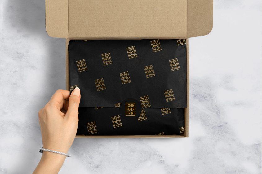 Tissue-Paper-Print_mailing-box-(1)_Black-Tissue-Gold-Logo