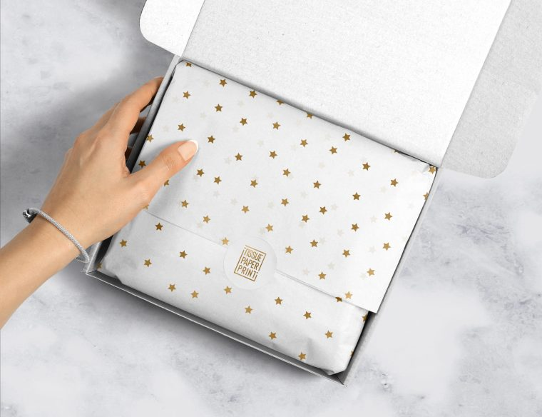 Tissue-Paper-Print---Ready-Designs---Gold-Stars-on-White_Mockup-1